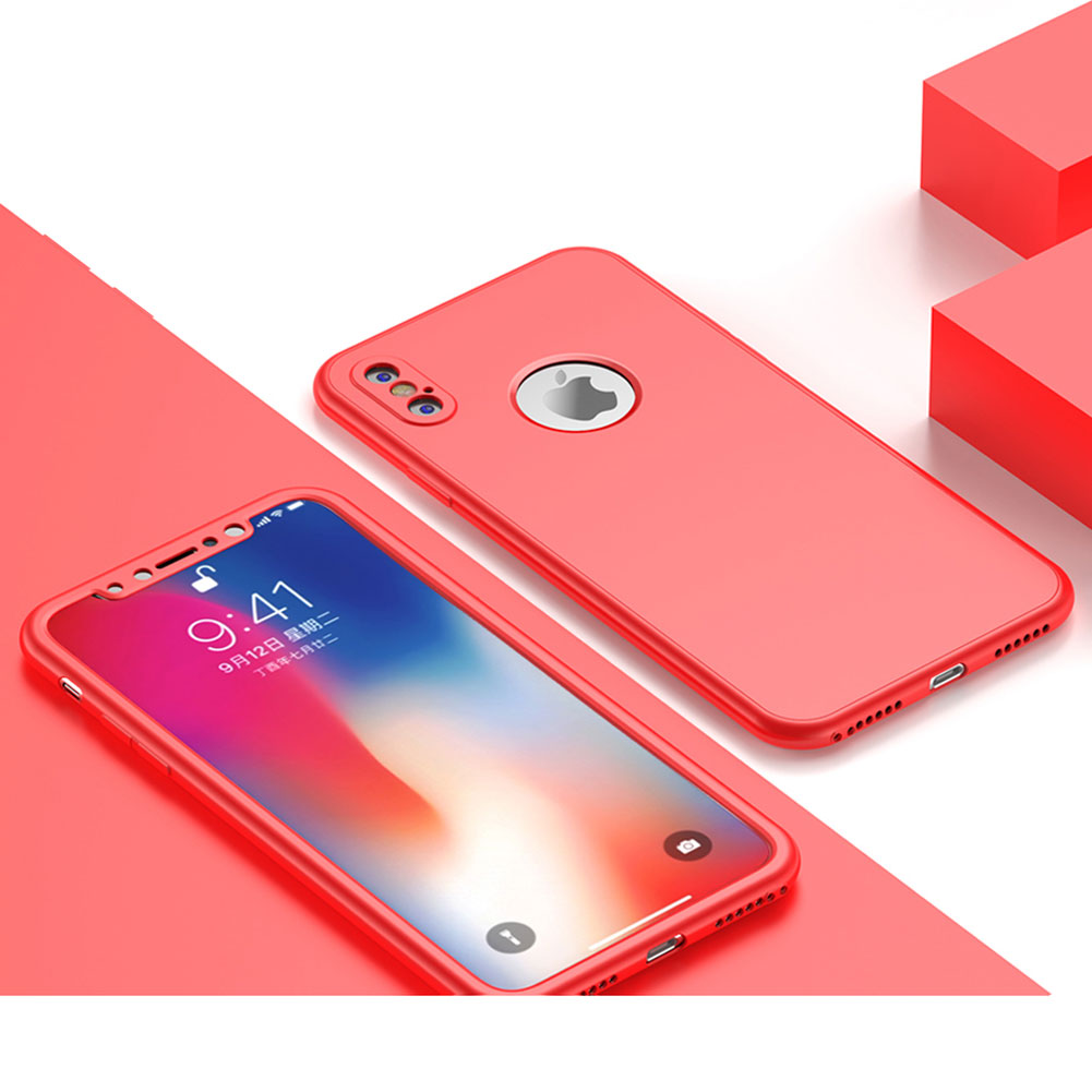 Jetjoy 360 Degree For iPhone X Silicone Case Full Body Front+Back Shockproof Protective Phone Cases Covers For iPhone 10 X Ten