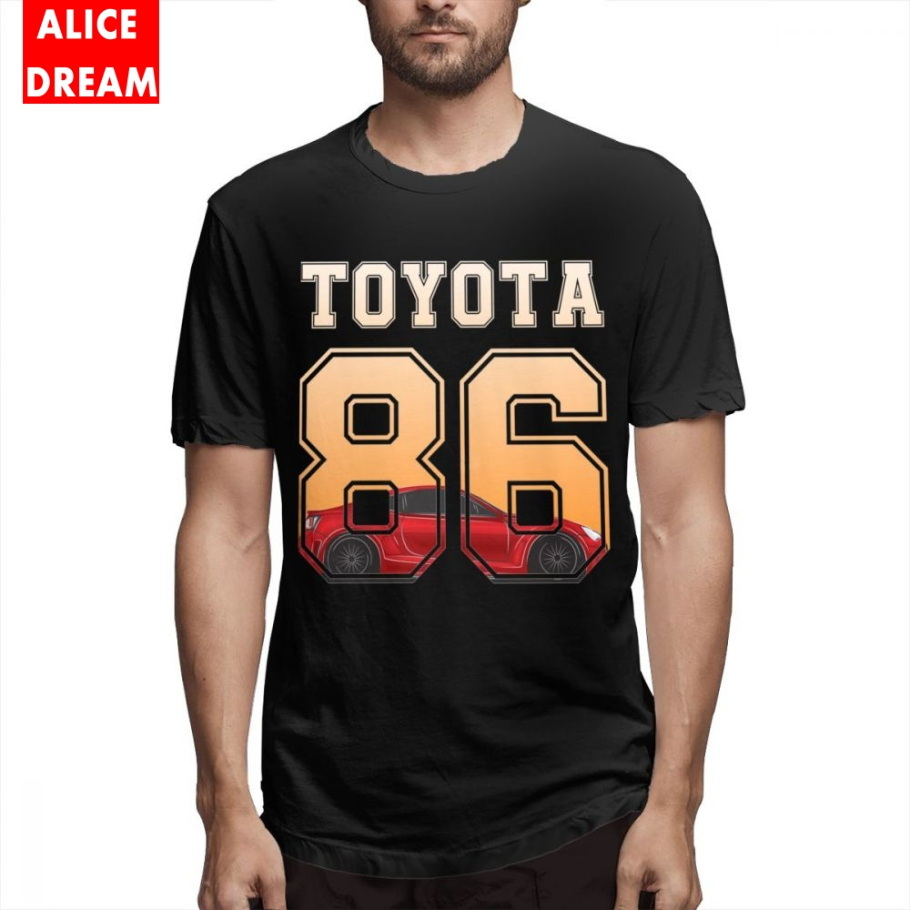 Men Ae86 Car T Shirt New Short Sleeve O neck Alicedream Homme T Shirt Summer Nice Fashionable Tee shirt in T Shirts from Men 39 s Clothing