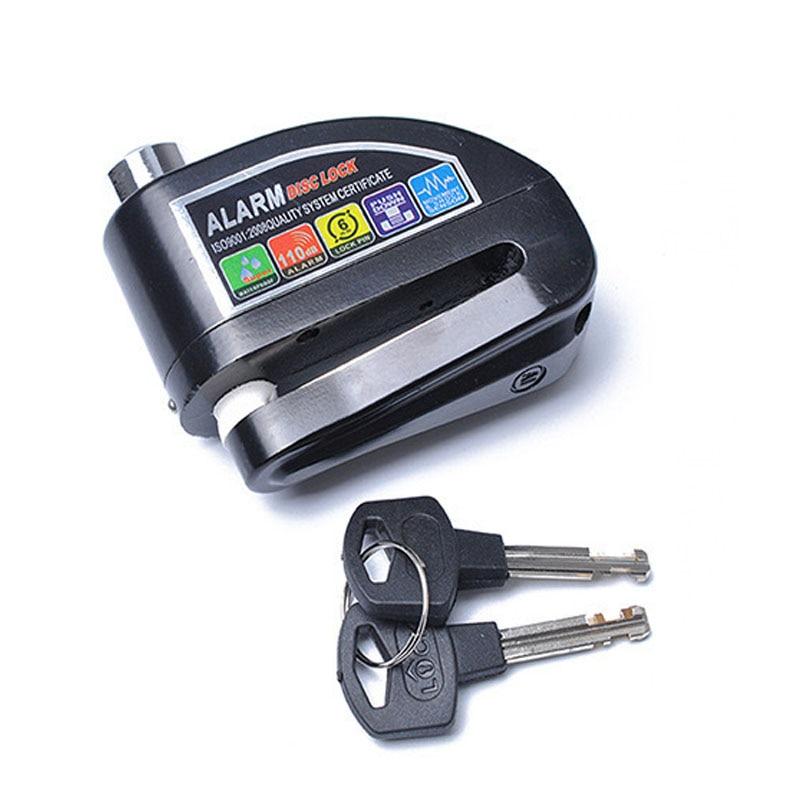 Motorcycle anti-theft lock disc brake  alarm
