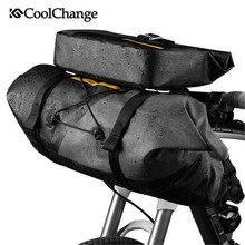цена на CoolChange Bike Bag Outdoor Waterproof Nylon Front Tube Handlebar Bag Bike Large Capacity Sports Basket Handlebar Bag