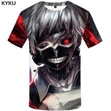Забавная футболка s Токийский Гуль футболка для мужчин крови футболки повседневное Кен рубашка канеки принт Япония аниме одежда косплей футболка с принтом