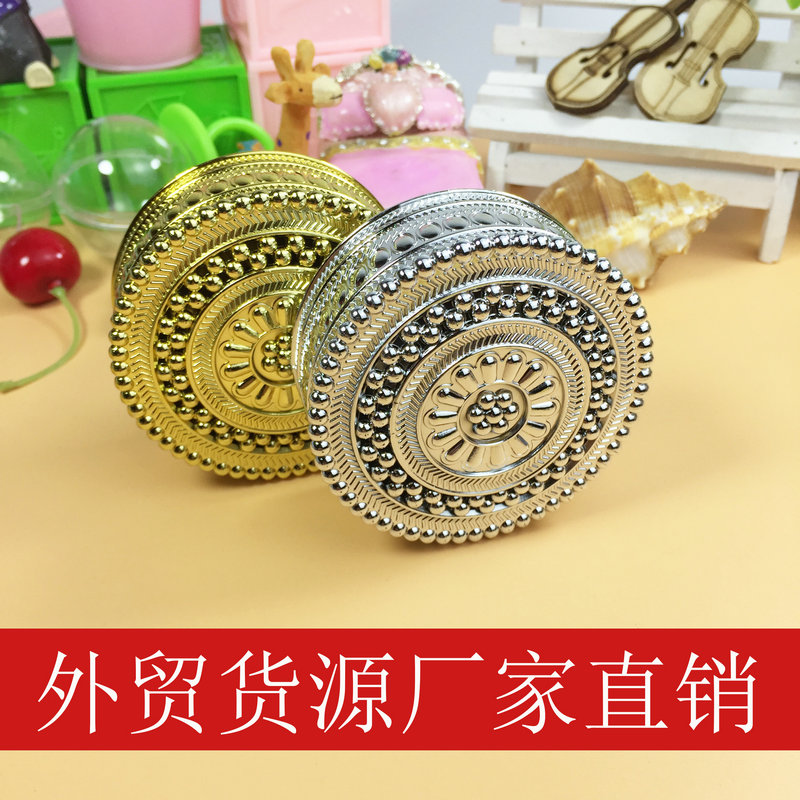 European creative personalized candy boxes vacuum plating gold silver dot petals gift box wedding box