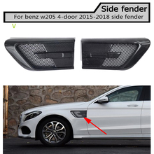 fake Carbon fiber  Side Fender Vent Trim for Benz w205 c180 c200 c300 4 door not fit c63 amg 2015-2018