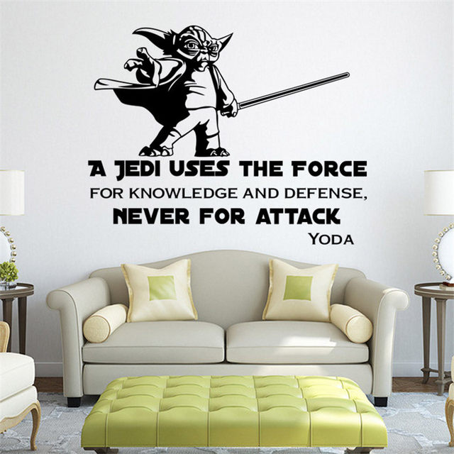 Online Shop Star Wars A Jedi Stickers Wall Art Sticker Decal Home