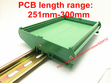 UM108 PCB uzunluğu: 251 300mm profil paneli montaj tabanı PCB konut PCB DIN Ray montaj adaptörü