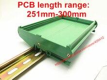 UM108 longitud de PCB: 251 300mm panel de perfil base de montaje PCB carcasa PCB carril DIN adaptador de montaje