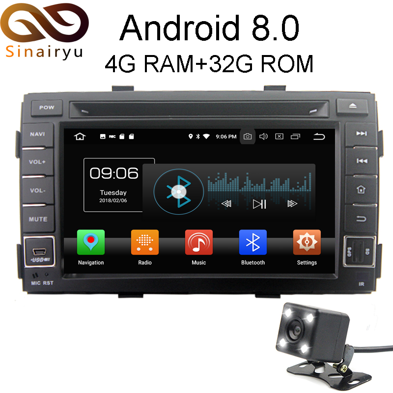 Android 8.0 IPS Octa Core RAM 4G Car GPS DVD Player For KIA Sorento 2009 2010 2011 2012 2013 Video Player Multimedia WIFI Audio 43 2012