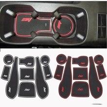 Supporto di tazza auto Zerbino cancello slot pad porta tappeti Interior Tazza Zerbino adesivi Per Chevrolet AVEO 2011-2014 Non- antiscivolo 9 pz per set