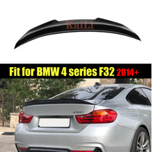 цена на 4 Series F32 Carbon Fiber Rear Trunk Boot Spoiler Lip for BMW 420i 428i 430i Coupe 2 Door PSM Style Wing 2014-2018