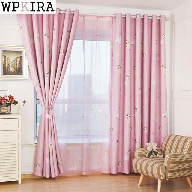 kids curtains pink princess