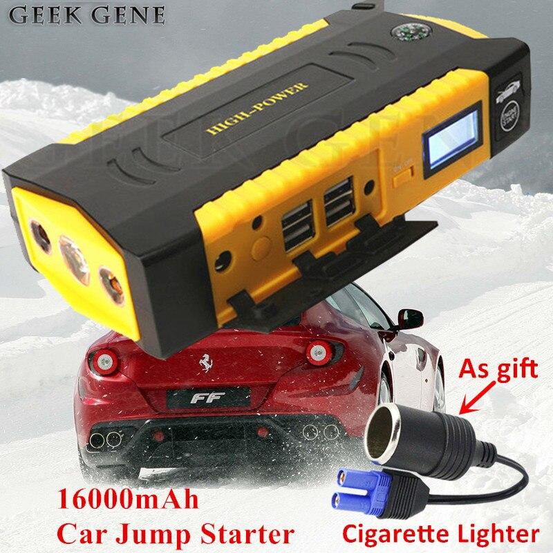 2016 69800mAh Multi Function Car Jump Starter Battery Emergency Charger Portable 4USB Mobile Phone Laptops Power