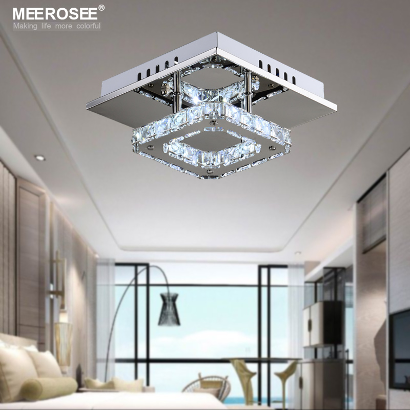 Square led crystal chandelier light for aisle porch hallway stairs square led crystal chandelier light for aisle porch hallway stairs wth led light bulb 12 watt 100 guarantee in chandeliers from lights lighting on mozeypictures Gallery