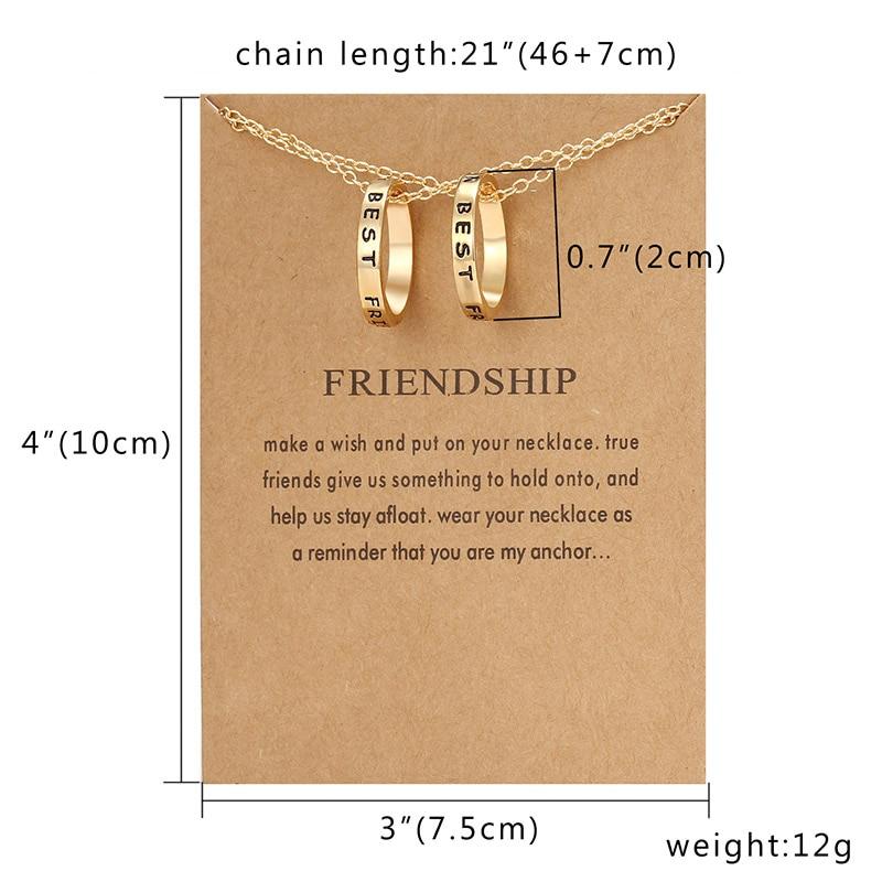Подвеска в виде разбитого сердца, ожерелье, 2 шт, лучшие друзья, буквы, пара, ожерелье s для женщин, девушек, дружба, навсегда, ювелирное изделие с картой - Окраска металла: Best Friends gold