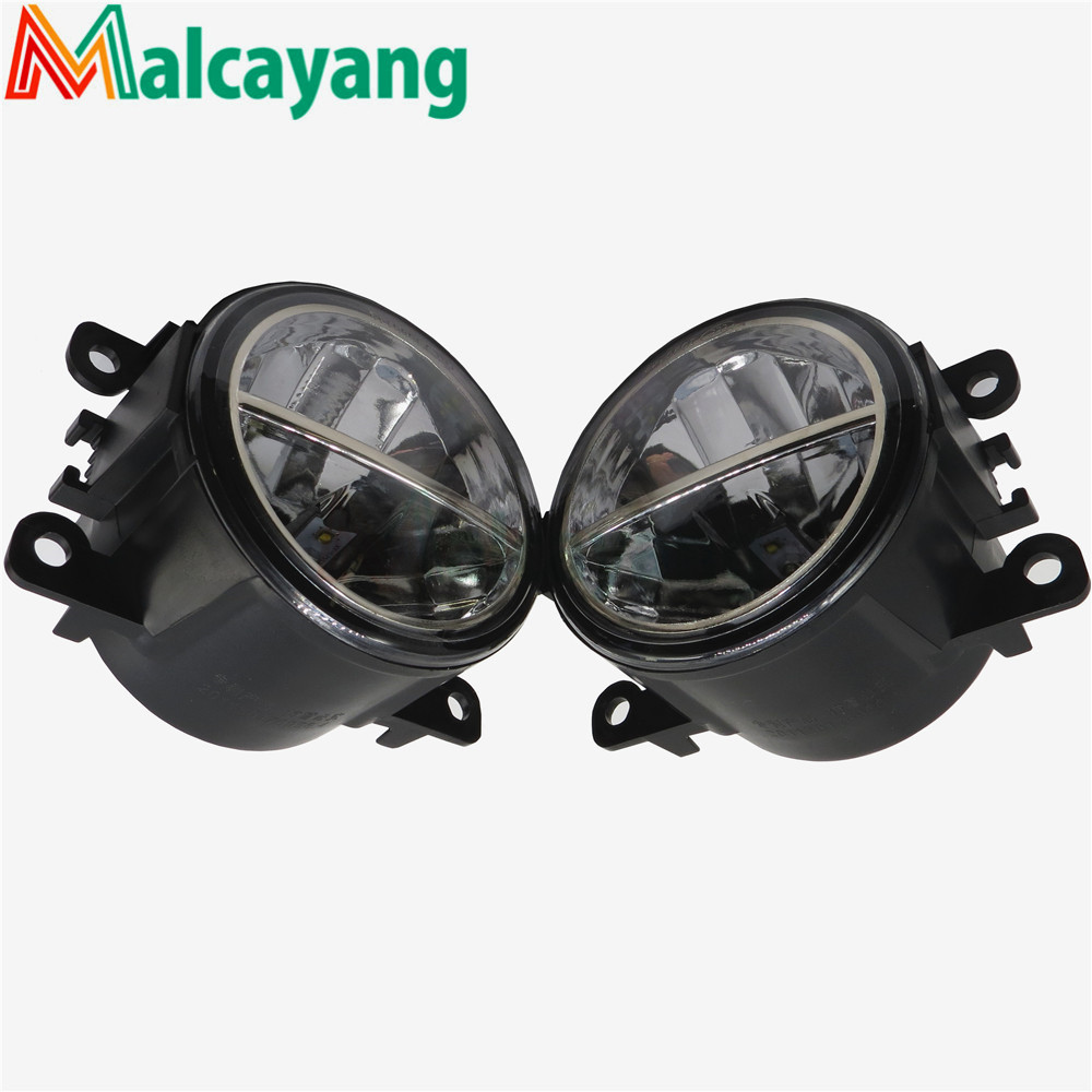 1set Car-styling LED fog lamps10W high brightness lights For Ford FOCUS MK2/3 Fusion Fiesta Tourneo TRANSIT 2001-2015 2 pcs set for ford tourneo fusion fiesta c max focus grand tourneo australia 2001 2015car styling led fog lights general