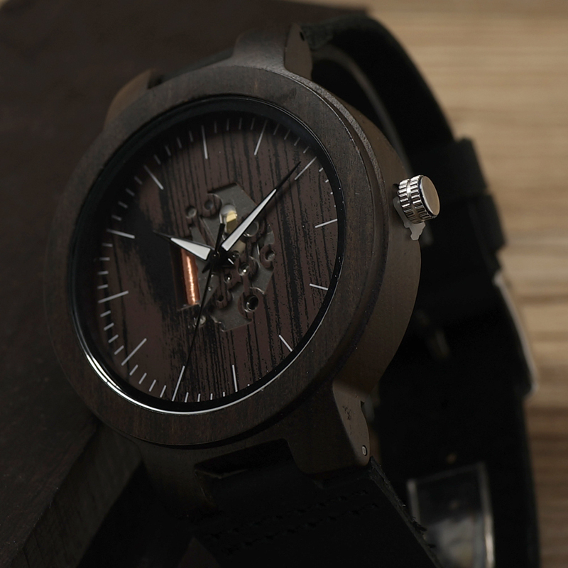 Wood Mens Watch Quartz Watches (6)