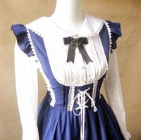 2015 spring new soft sundress sweet girl dress LOLITA Costume blue and pink on sale