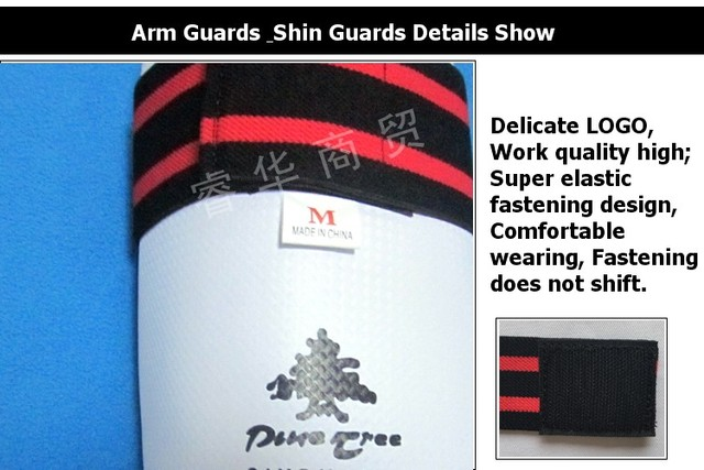 Taekwondo Shin & Arm Professional Guard Boxing Protector Karate Gear WTF CE Comfortable Absorb Sweat 4 piece/Pack Fight Winner 3