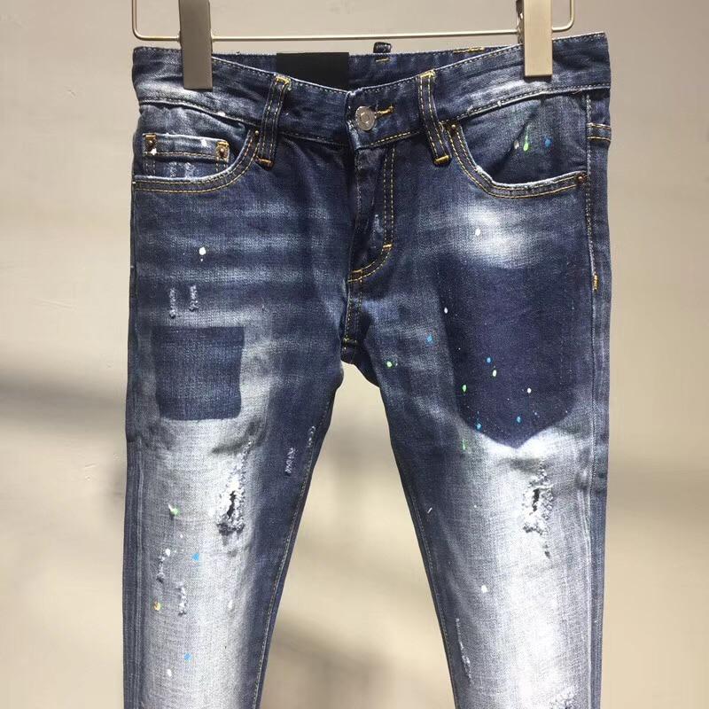Denim Casual Cremallera Color 2018 Delgado Moda Azul Lápiz Hembra Mujeres Nuevo Pantalones Vaqueros Feminino Estrechos Agujero Para qBPxSzrq