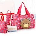 Multifuncional Bolso de La Momia de Maternidad del Bolso Del Bebé Bolsas de Pañales del bebé Tote Organizador 2 Colores bolsas de maternidad bebe + bolsa de botella