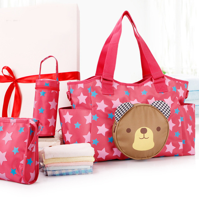 Multifunctional Mummy Bag Maternity Handbag Baby Diaper Bags baby Tote Organizer 2 Colors bolsas de bebe maternidade+bottle bag