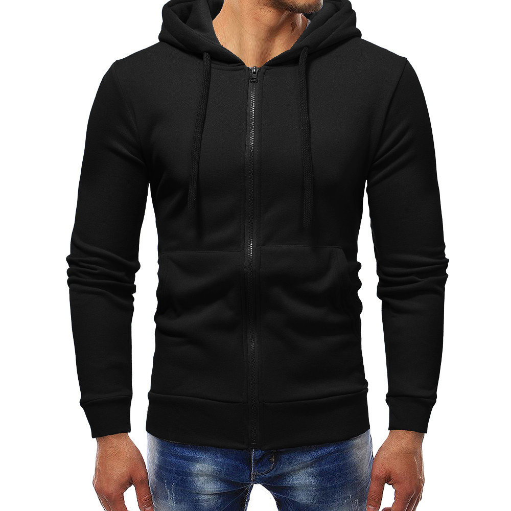 Hoodies Men 2020 Autumn Brand Male Long Sleeve Solid Hoodie Zipper Sweatshirts Men Black White Yellow Big Size Moletom Masculino