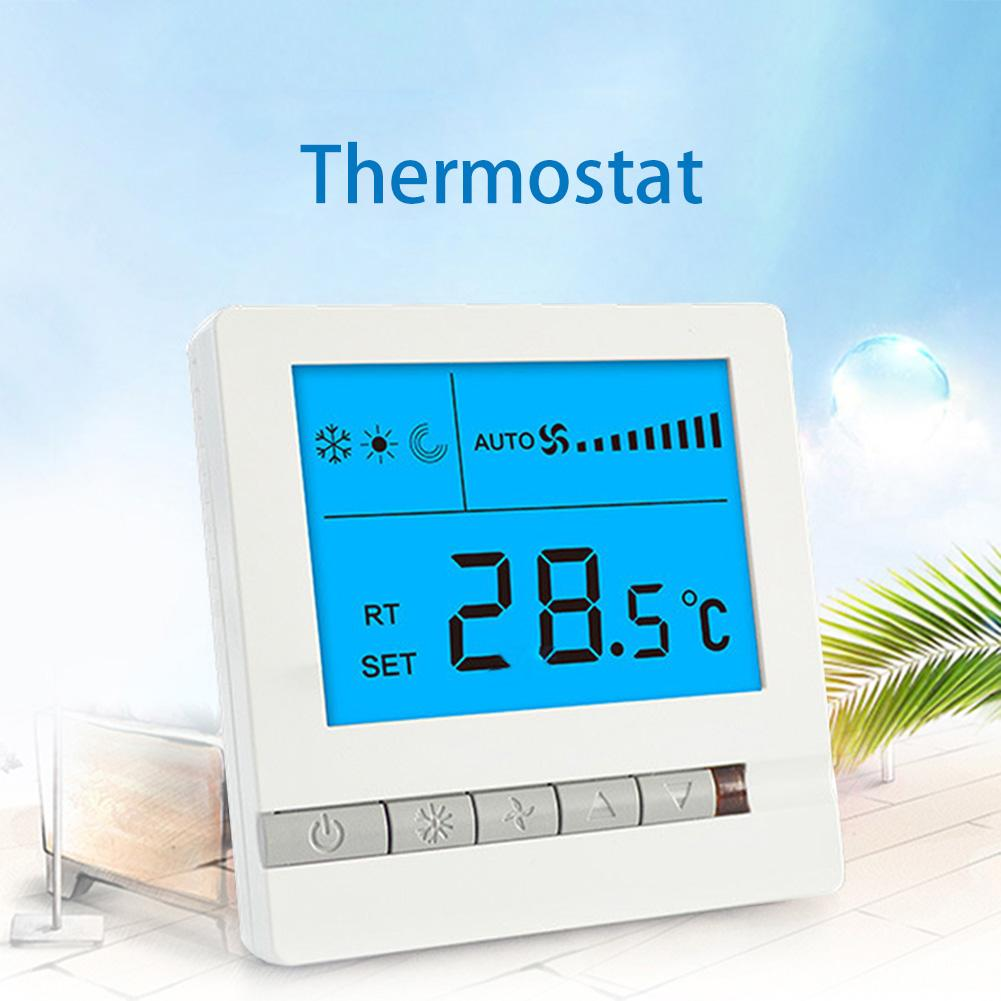 WiFi Smart Thermostat Three Speed Switch Temperature Controller For Central Air ConditioningWiFi Smart Thermostat Three Speed Switch Temperature Controller For Central Air Conditioning