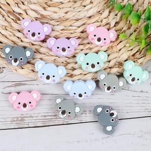 Image 5 - TYRY.HU 50pc Mini Koala Chewable Beads Food Grade Cartoon Silicone Beads Baby Teether Teething Toy DIY Pacifier Clip Accessories