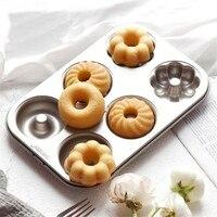 新しいケーキ型1ピースクラシックテフロン加工ドーナツクッキー耐熱皿型炭素鋼ケーキフルーベーキングパンツール26.5*18.5*2.2セン