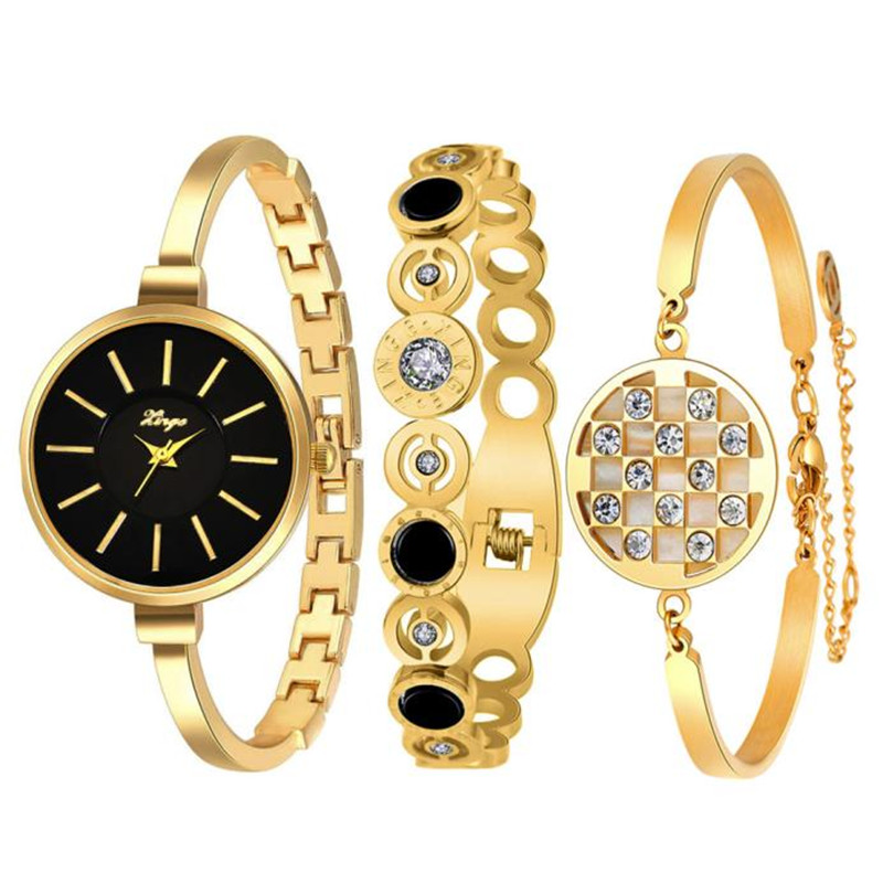 Luxury Brand Women Bracelet Watch Gold Rhinestone Bangle Watch And Bracelet Set watches women fashion watch wholesale spring big sale brand bs luxury 14k gold diamond women watch lady gold siliver dress watch rhinestone bangle bracelet
