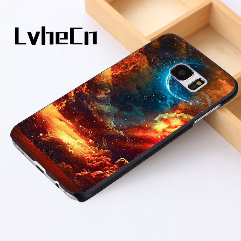 LvheCn phone case cover For Samsung Galaxy S3 S4 S5 mini S6 S7 S8 edge plus Note2 3 4 5 8 Incredible Psychedelic Desert Sky Art