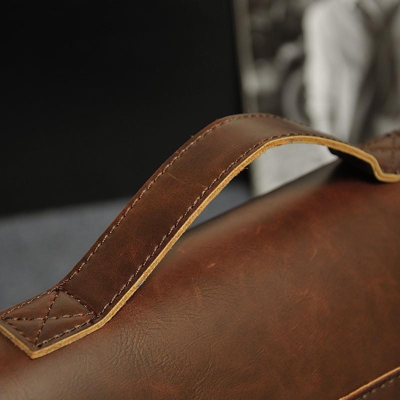 Vintage Men Business Real Genuine Leather Briefcase Travel Causal Shoulder Messenger Portfolio Laptop Bags Lawer Handbag Bolsa (11)