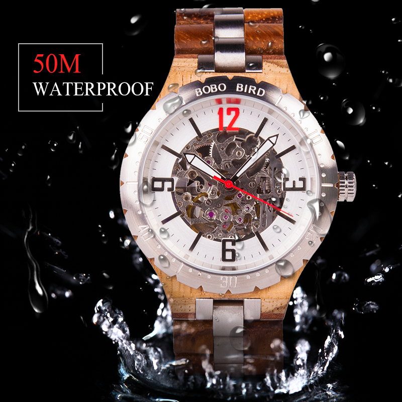 BOBO BIRD Luxury Mechanical Watch Men Water Resistant Stainless Steel Automatic Watch relojes automaticos de hombre