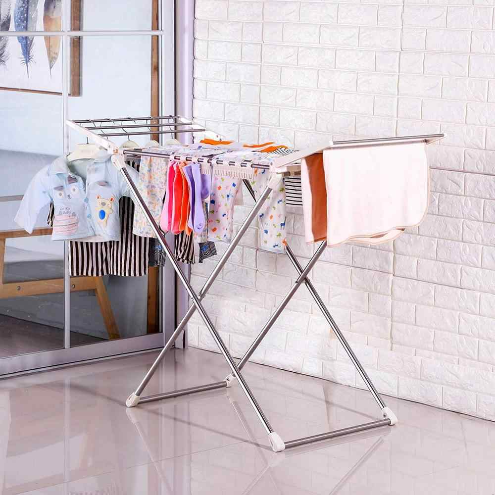 Indoor Balcony Folding Clothes Drying Rack Protable Laundry Dryer Hanger  Shelf with Socks Clips Household DQ1808|Drying Racks| - AliExpress