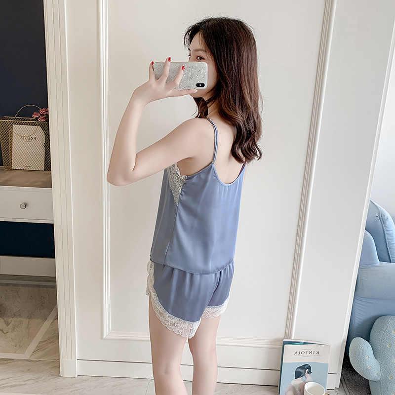 Повседневный женский летний ночной халат-Пижама, комплект, сексуальный женский браслет, топ, костюм, пижама, домашняя ночная рубашка, халат для сна, банное платье