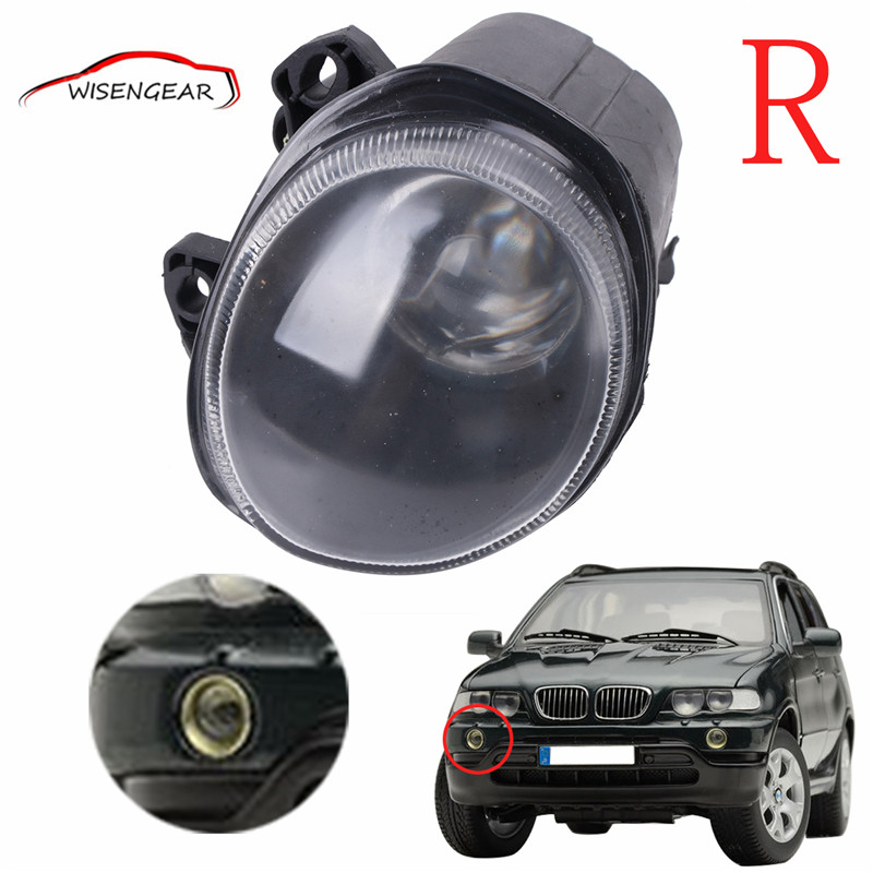 New High quality Right Side Front Fog Lights Driving Lamps For BMW X5 E53 2000  2001 2002 63178409026	 C/5 high quality 1pair bumper driving fog light lamp lens for bmw e39 5 series 525i 530i 540i 4door 2001 2002 2003 car accessory q35