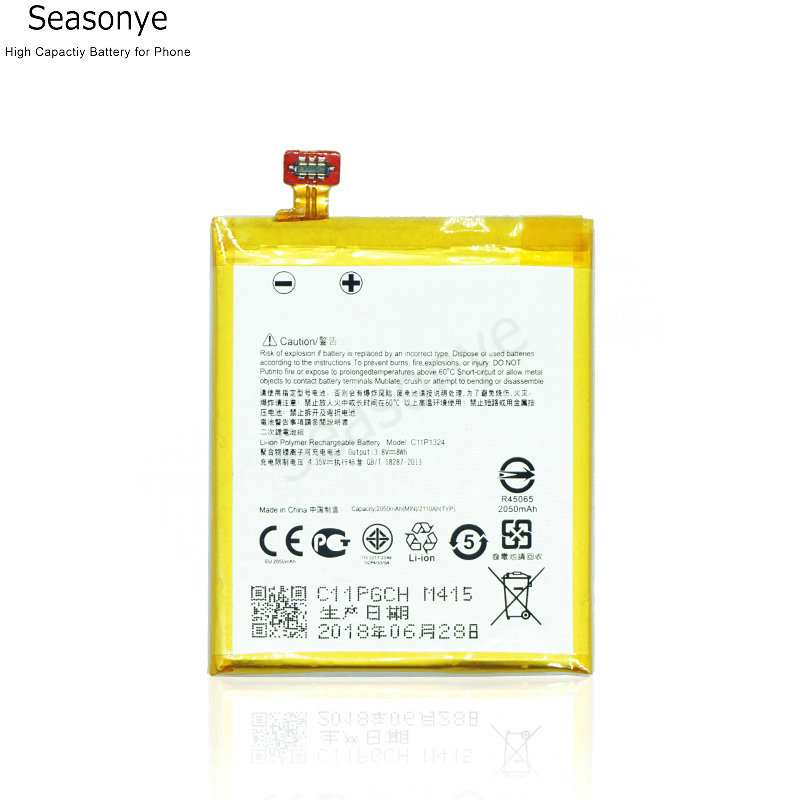 Seasonye 2050mAh / 8Wh C11P1324 Phone Replacement Battery For <font><b>ASUS</b></font> <font><b>Zenfone</b></font> <font><b>5</b></font> T00F T00J <font><b>A501CG</b></font> <font><b>A500CG</b></font> A501 A500G Z5 A500 A500KL image