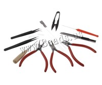 Free Shipping DIY Jewelry Tool Sets With Pliers Scissor Pins Black 160x113x30mm