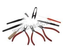 Envío gratis DIY juegos de herramienta de joyería con los alicates y tijera y alfileres negro 160 x 113 x 30 mm