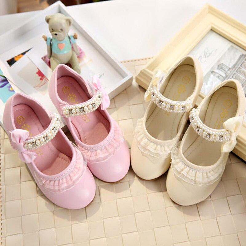IYEAL Lente Kinderen Meisjes Lederen Platte Schoenen Mode Bloem Baby - Kinderschoenen - Foto 2