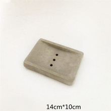 Simple Rectangle Cement Soap Dish Making Mould Concrete Silicone Planter Pot Tray Holding Tool Mold