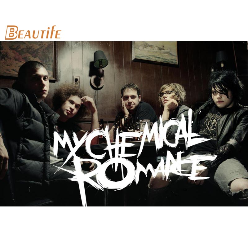 Hot Sale Custom  My Chemical Romance   Poster Home Decoration Fashion Silk Fabric Wall Poster Custom  Poster  X008