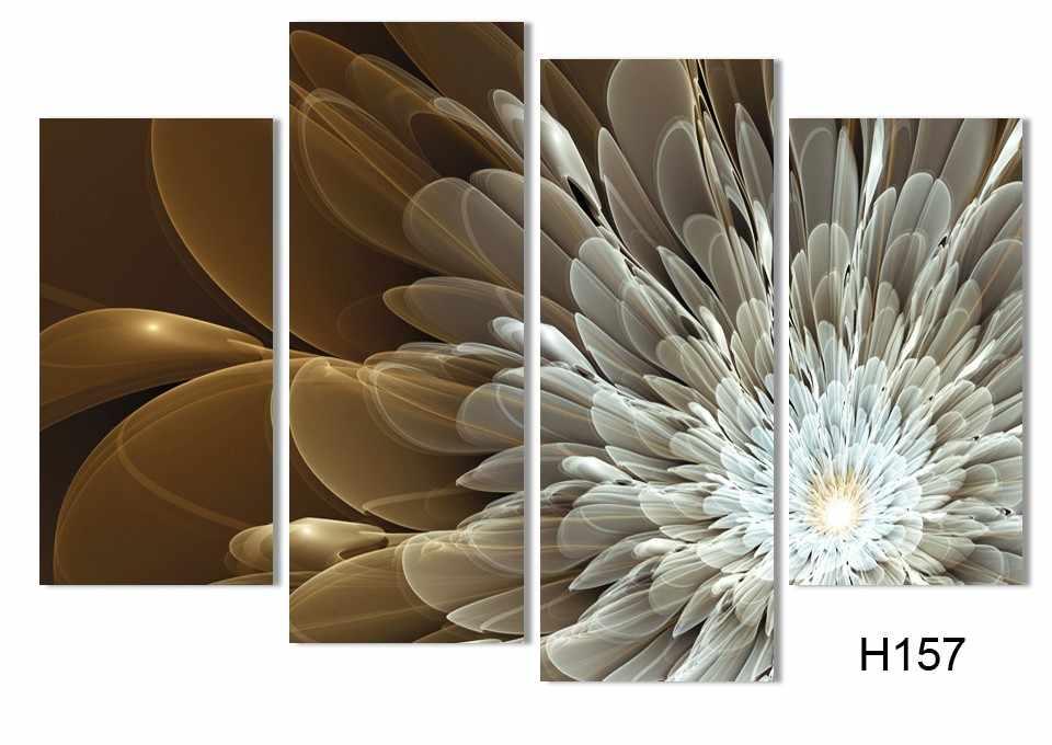 4 шт. холст настенная живопись богатство и роскошные золотые цветы художественная картина домашний декор на холсте Современная Настенная роспись модульная