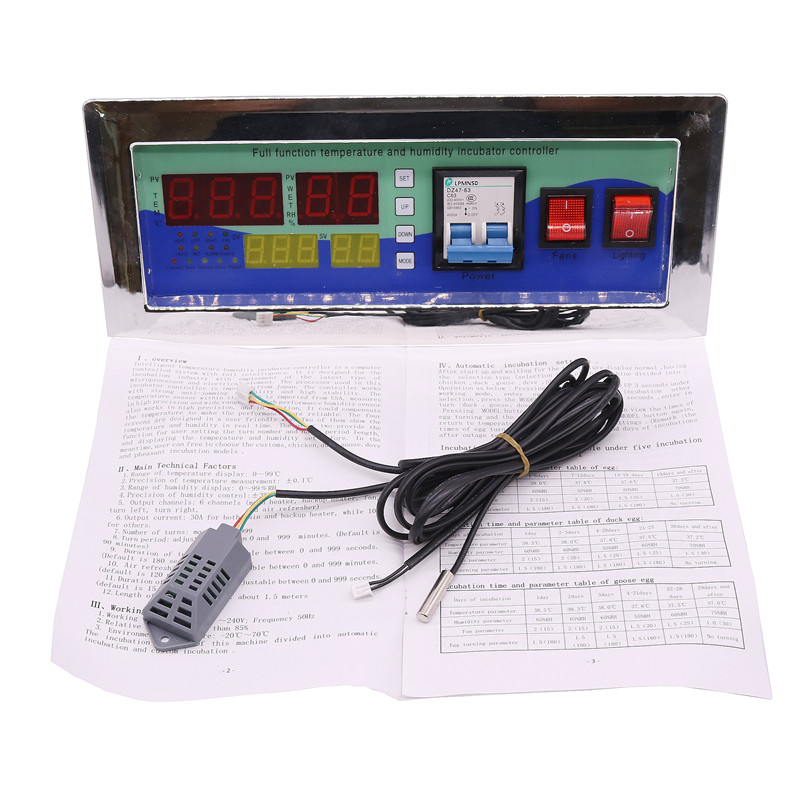 1 zestaw domowego kontroler nowoczesnych akcesoria automatyka inkubatory inkubator regulator regulator temperatury i wilgotności powietrza sonda w Klatki i akcesoria od Dom i ogród na  Grupa 1
