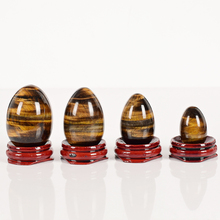 Gemstone Natural tiger eye egg with wooden base natural stone and quartz Crystal Balls Healing Chakra Reiki sphere for decor