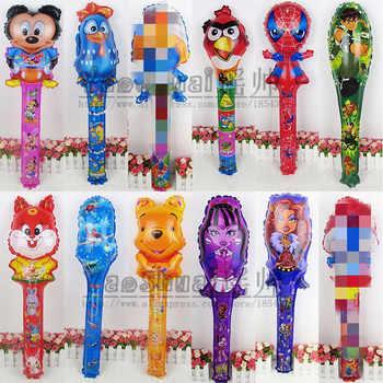 Lucky 200 ชิ้น/ล็อต Minions & Dora & Hello Kitty & Snow White Cheering Sticks บอลลูนฟอยล์บอลลูนอากาศวันเกิด Party inflatable ของเล่น