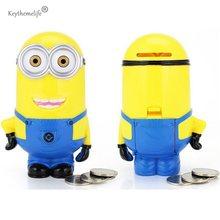 3D Minions Cartoon Piggy Bank Money Box hucha Saving Coin Cent Penny Children Toy E0
