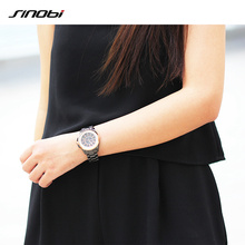 2017 Sinobi luxury Brand Fashion watches Woman Ladies New Gold Diamond relogio feminino Dress Clock female relojes mujer