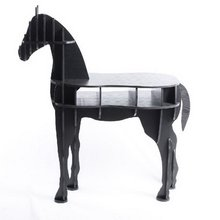 """48.8"""" horse desk horse coffee table wooden home furniture FSC-certified"""
