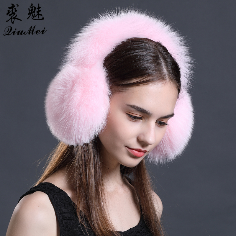 Apparel Accessories Winter Women Warm Real Fox Earmuffs Girls Earlap Ultralarge Imitation Ladies Plush Ear Muff Raccoon Plush Earmuffs #2 Men's Accessories