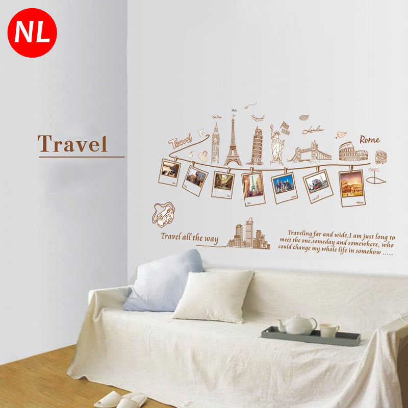 DIY Travel Photo Frames Art Wall Stickers Europe Building Removable ...